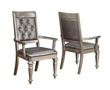 Danette Metallic Upholstered Dining Arm Chair by Coaster 106473 - Set of 2