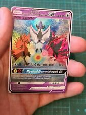 Galarian Articuno Zapdos and Moltres Pokemon GX Tag Team Custom Card In Holo