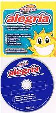 Disco Alegria Radio Mix  CD Promo Single 1999 Cardboard Sleeve