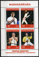 Madagascar 2019 MNH Freddie Mercury Queen 4v M/S Famous People Music Stamps