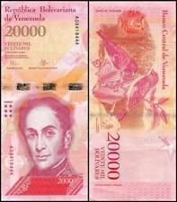 Venezuela 20000 Bolivares 2017 Uncirculated World Currency Banknote Money Cash