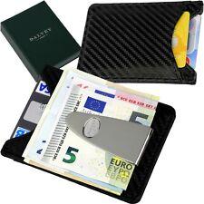 DALVEY - EC - Kredit Karten Etui - Leder - Edelstahl Geldklammer - Dollarclip