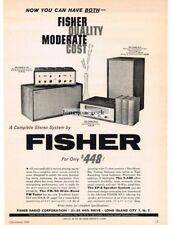 1960 Fisher X100 Amplifier FM50 Fm Tuner XP2 Speakers Vtg Print Ad
