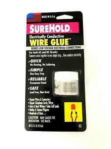 Surehold Electrically Conductive Wire Glue - Low Voltage Connections - 78-SH-455