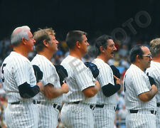 New York Yankees Legends DiMaggio, Mantle, Maris, Martin, Berra 8x10 Photo