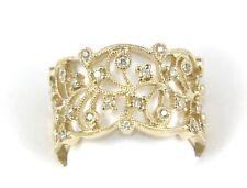Fine Diamond Milgrain Filigree Fashion Eternity Ring Band 14K Yellow Gold .32Ct