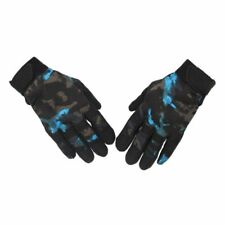 Military Tactical Airsoft Shooting Gear Riding Hunting Full Finger Gloves Blue