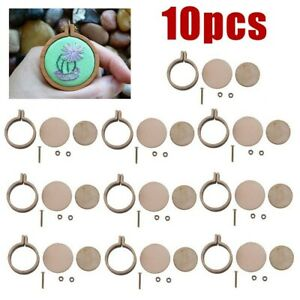 10pcs/set  Mini Embroidery Hoop Ring Wooden Cross Stitch Frame For Hand Crafts