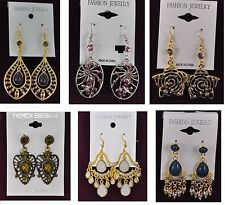 Fashion Jewelry lots 100 pairs Mixed Style Colorful Drop Earrings wholesale  #OO