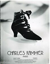 Publicité Advertising 1988 Les Chaussures Charles kammer