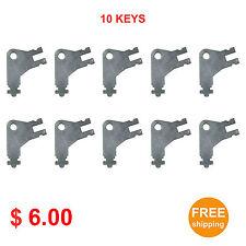 Cormatic Dispenser Key #50504 for Paper Towel & Toilet Tissue Dispensers 10pcs