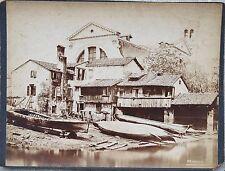ANTIQUE SQUERO SAN TROVASO GONDOLA BOAT VENICE ITALY ALBUMEN CABINET CARD PHOTO