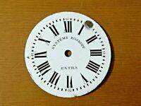 Esfera reloj de bolsillo esmalte 47mm pocket watch dial SYSTEME ROSKOPF EXTRA