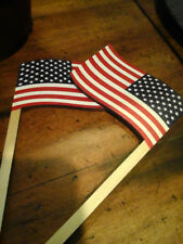Maple Landmark American Flag wooden silly sticks pair