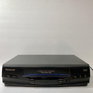 Panasonic Omnivision 4-head VHS VCR Player Recorder PV-V4520 Tested - No Remote