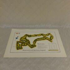 Wentworth Golf Club Surrey England Survey Map West Course 1969 Izatt UK Designed