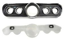 NEW! 1966 Ford Mustang Instrument Bezel Cluster Standard Black With Lens Set