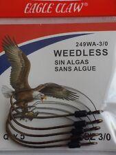 Eagle Claw Weedless Baitholder Hooks 1 Pack(5pcs) Size 3/0