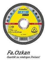 Klingspor Trennscheiben NEU Ø 125 x 1mm A60 Extra INOX Trennscheibe Kronenflex
