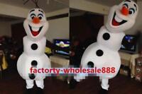 Snowman Cute Mascot Costume Cosplay Fancy Adults Size Christmas Dress Newly 2019