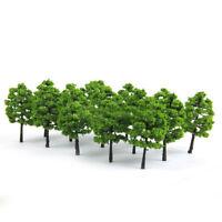 20 Model Trees Train Railroad Diorama Wargame Scenery HO OO Scale 1:100 Well