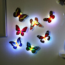 1pcs Random Colors Stick-on Butterfly Wall Xmas Decor LED Night Light Lamp