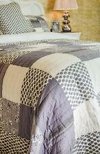 Fantastico Doppia Dimensione Grigio Patchwork Quilt 100% COTONE COPRILETTO sfumature di grigio