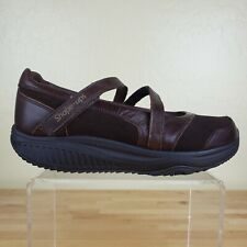 Skechers Shape Ups Mary Jane Shoes Womens Size 8 Walking Toning Comfort Brown