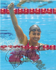 REBECCA SONI signed 8 x 10 Photo TEAM USA Swimming London Olympics FREE SHIPPING