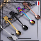 Cuillère à Café Tête de Chat Pour le Thé, Café, Desserts Mini Cuillère de 11,5cm
