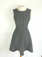 Lipsy Black and White Fit and Flare Dress in Size 6 8