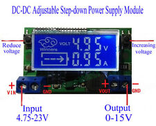 DC-DC Adjustable Step-down Power Supply Module Voltage Current Dual LCD Display