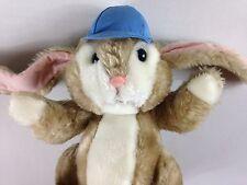 Willitts Bunny Rabbit VTG 1985 Stuffed Plush Floppy Ears Bushy Tail Blue Hat Cap