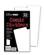25 Ultra Pro Comic Dividers White Archival Safe new
