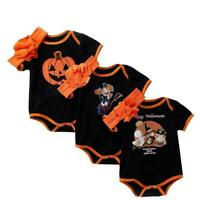 2019 Newborn Toddler Infant Baby Boy Girls Halloween Sets Romper Outfits Pa P9A6
