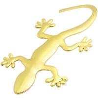 Adesivo 3D  gecko ORO cromato emblema auto car tuning sticker metallo geko