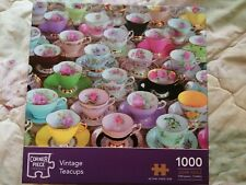 Jigsaw puzzles 1000 pieces, Vintage Teacups, Corner Piece