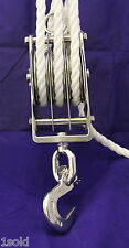 PULLEY SYSTEM Trawlblocks Triple Pulley With Clevis Slip Hook FOR ALL LIFTING