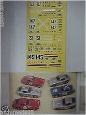 Decal 1/43 Ferrari 250 SWB Tour de France 1961