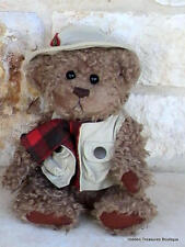 "Brass Button Collectible Pickford Bear ""Tanner"" Bear of Health Plush"