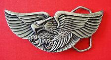 1980 Vintage Eagle Wings Pewter Indiana Metal Crafts Belt Buckle
