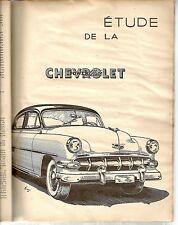 REVUE TECHNIQUE AUTOMOBILE 103 RTA 1954 ETUDE CHEVROLET POWERGLIDE