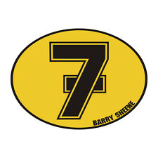 Sticker plastifié BARRY SHEENE NUMBER 7 Suzuki - 8cm x 11cm