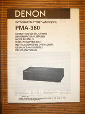 Mode d'emploi/OPERATING INSTRUCTIONS pour Denon pma-360, original