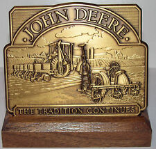*John Deere Tractor w/ MaxEmerge 2 & GP301 Planter 1997 Calendar Medallion Brass