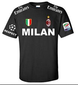 T-Shirt Milan Schwarz Weiß Fußball Meister Black Weiß T-Shirt Polo 18 Sweatshirt