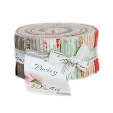 "Moda POETRY PRINTS Jelly Roll 44130JR 40 2.5"" Quilt Fabric Strips By 3 Sisters"