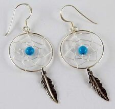 Turquoise Silver Ethnic & Tribal Earrings