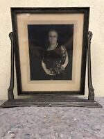 Large Antique Standing Wood Picture Frame - 11 X 13 1/2 Image