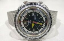 Sicura Breitling Calculator Flyback Chrono Vintage Watch Swiss made